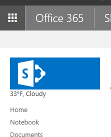 SharePoint Weather Update